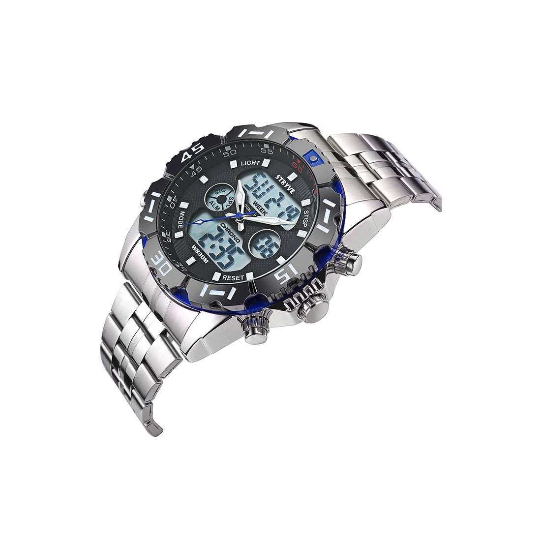 Blue Luxury Stryve Sport Waterproof Exquisite Watch For Men Stainless Steel