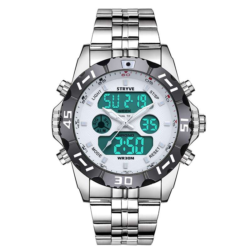 White Luxury Stryve Sport Waterproof Exquisite Watch For Men Stainless Steel